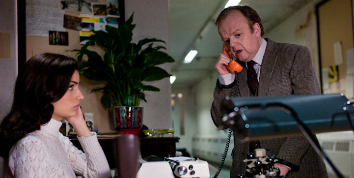 Toby Jones and Tonia Sotiropoulou in Berberian Sound Studio by Peter Strickland
