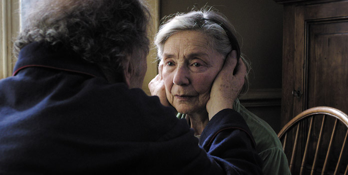 Jean-Lous Trintignant and Emmanuelle Riva in Amour