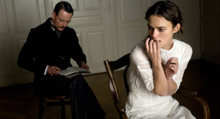 Michael Fassbender and Keira Knightley in A Dangerous Method