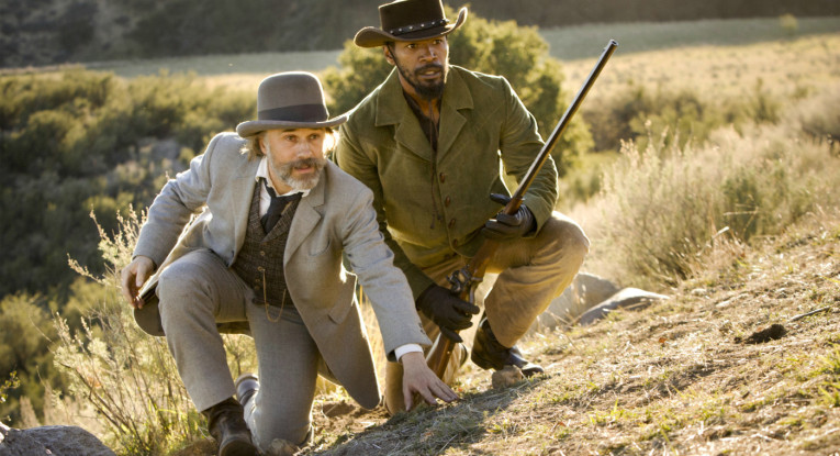 Christoph Walz and Jamie Foxx in Django Unchained