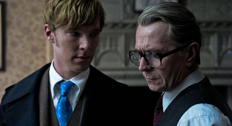 Benedict Cumberbatch and Gary Oldman in Tinker Tailor Soldier Spy