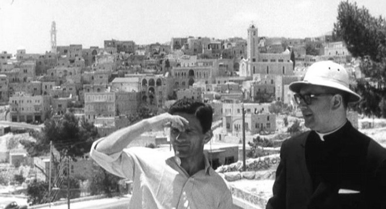 Pier Paolo Pasolini and Don Andrea Carraro in Palestine