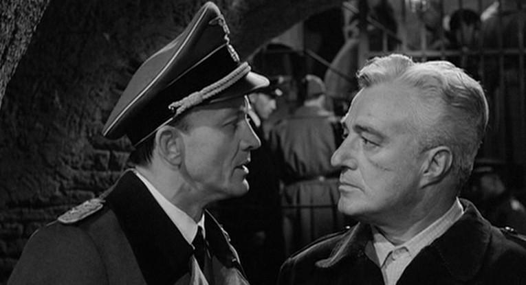 Vittorio De Sica and Hannes Messemer in Il Generale Della Rovere