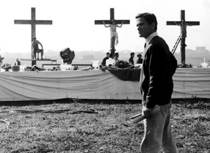Pasolini on the set of La Ricotta