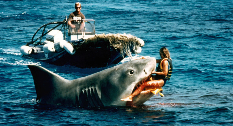 The shark claims a victim on set of the film